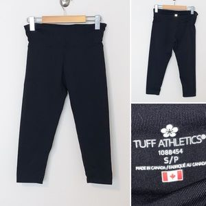 Tuff Athletics Cropped Blk Women's  Leggings-small